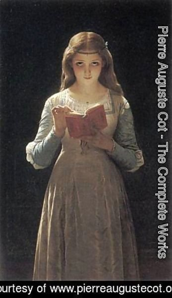 Pierre Auguste Cot - Young Maiden Reading a Book